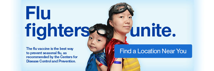 Flu fighters unite. Find a location near you.